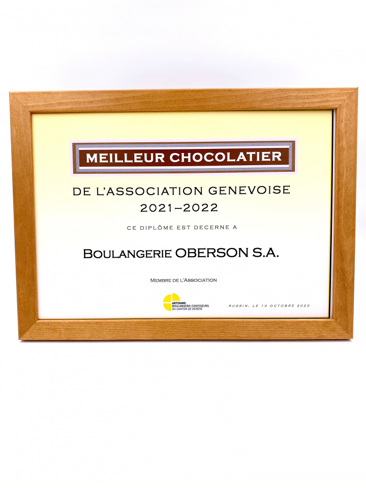 Prix du meilleur chocolatier genevois