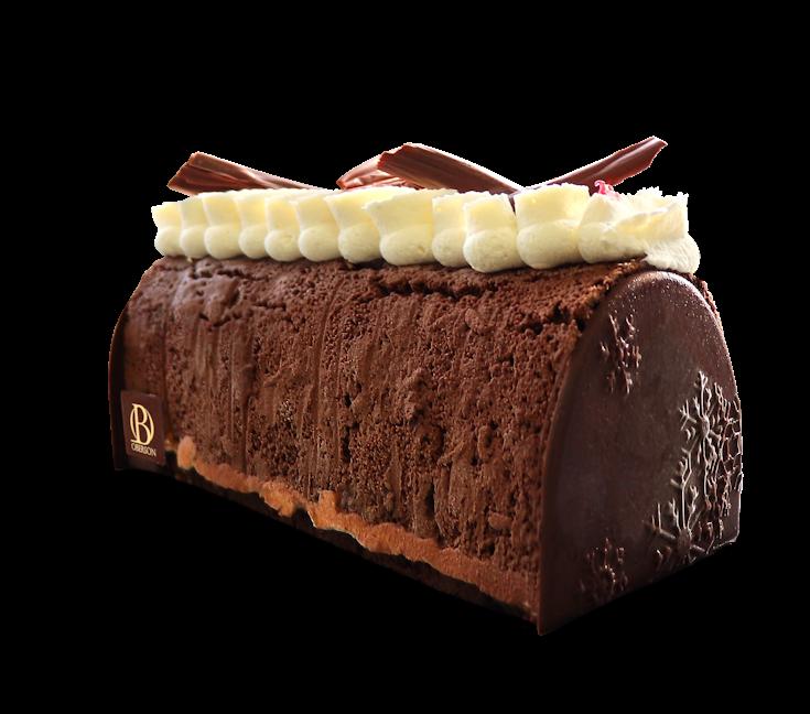 Biscuit chocolat, confiture framboise, Mousse chocolat Grand-Cru Maracaïbo, Crème Chantilly à la vanille de Madagascar