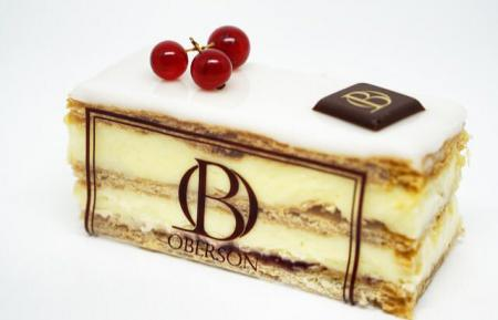 Pâte feuilletée, crème pâtissière, confiture framboise
