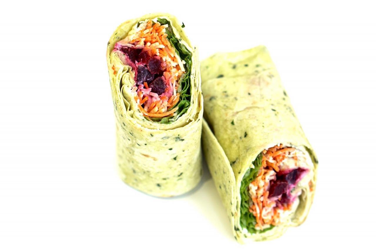 Wraps aux crudités, Wraps jambon-fromage, Wraps avocat-poulet