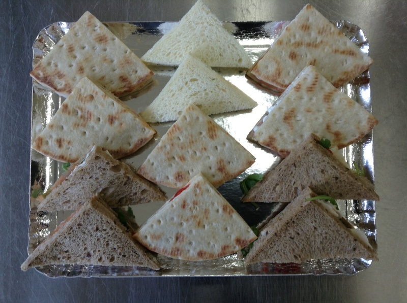 6 triangles toast lunch truite fumée cottage tartaraise, 6 triangles saumon fumé