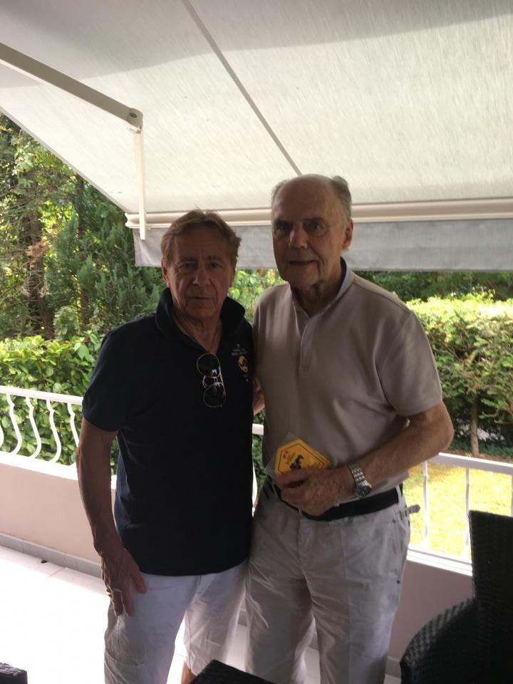 8.7.2017... avec la légende Lucien Muller (83 ans) ex- Stade de Reims, Real Madrid , FC Barcelone et AS Monaco.