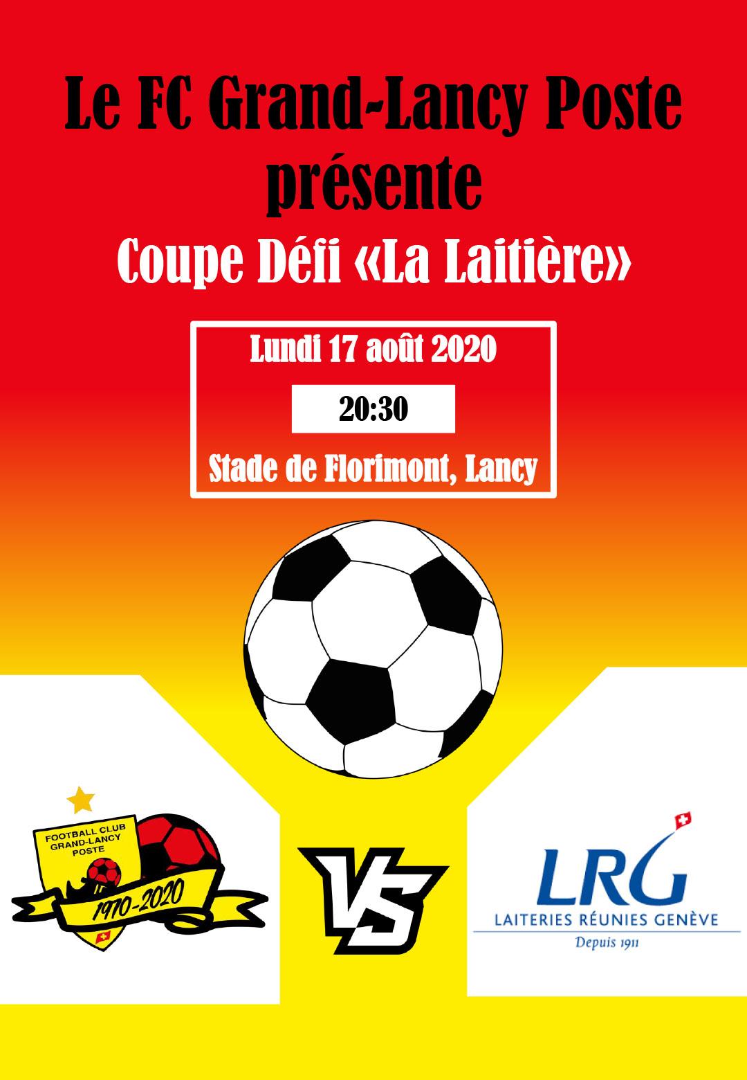 LE FCGLP1970 face au FC Laiteries Réunies