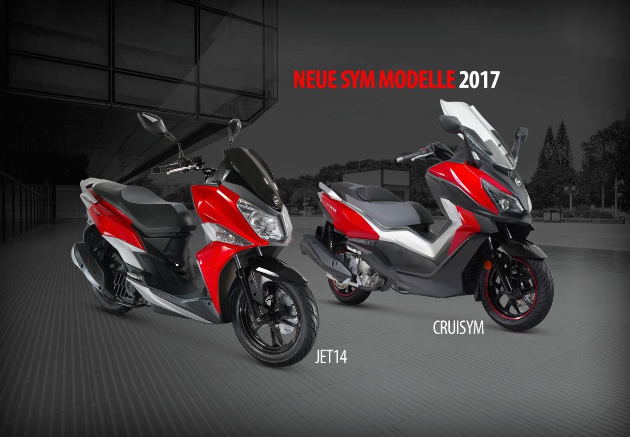 Nouveaux modèles Sym 2017