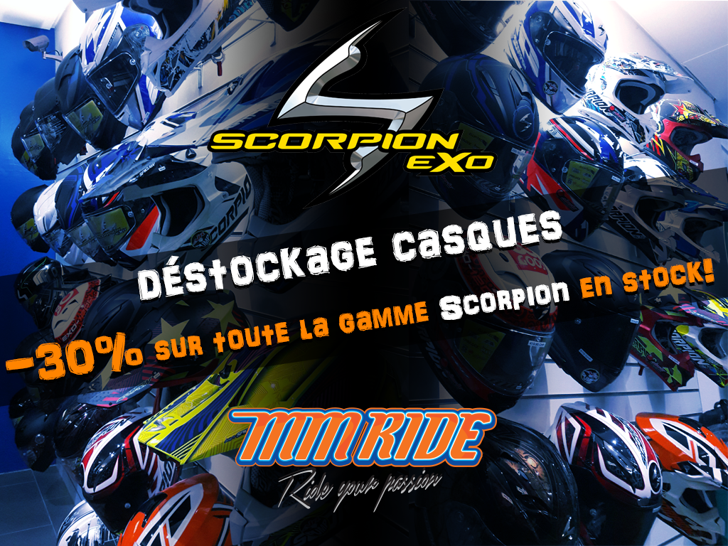 Déstockage casques Scorpion !