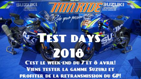 Suzuki Test Days au garage MM Ride