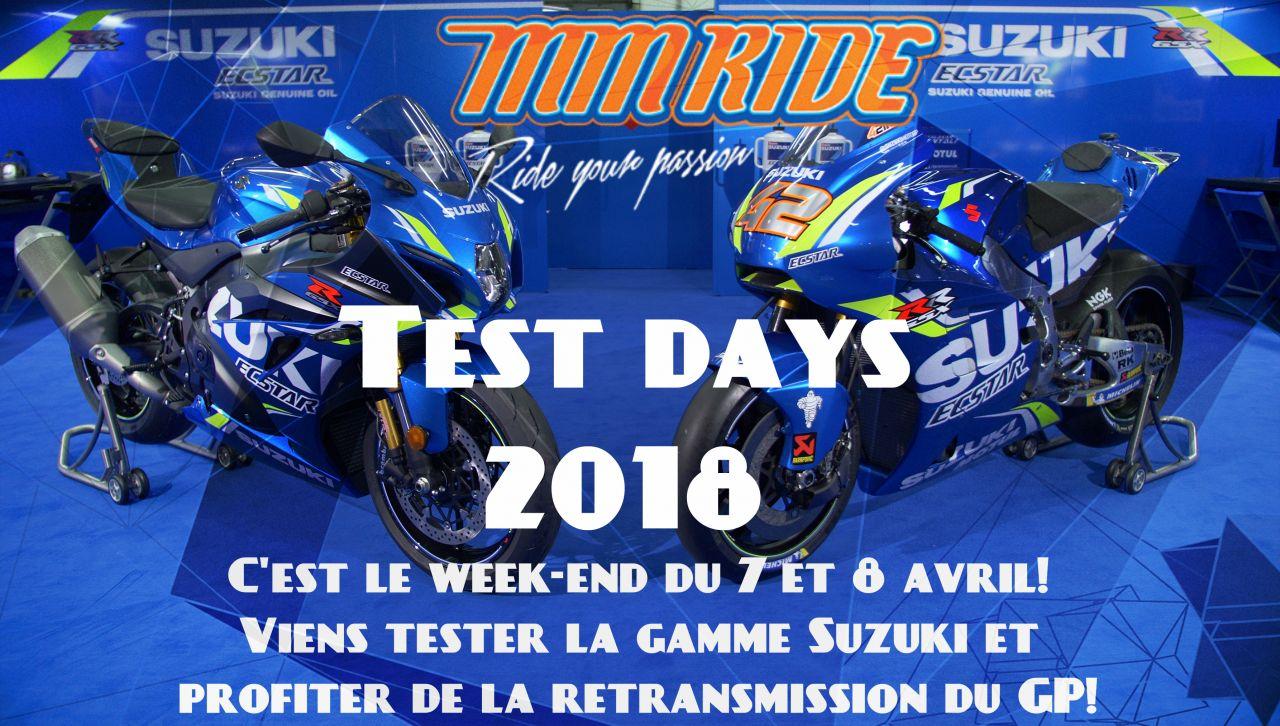 Suzuki Test Days au garage MM Ride