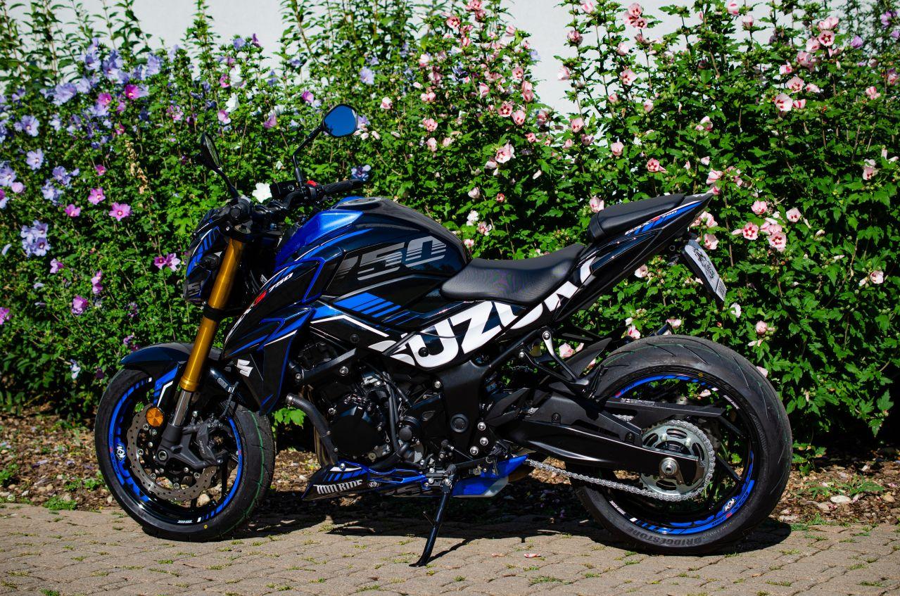 Suzuki GSX-S 750 Black and blue - MM Ride